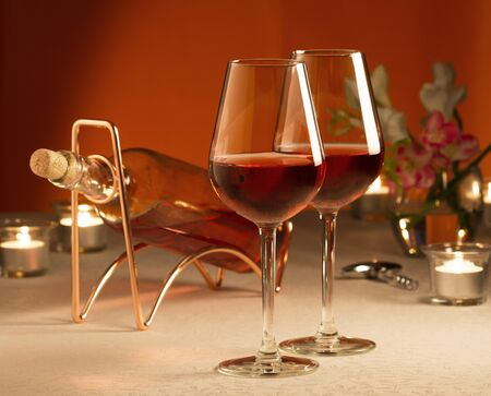 responsibly: Two glasses of rose wine