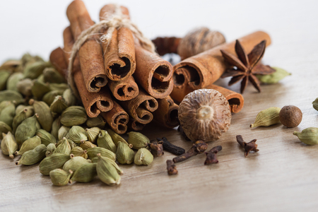 Collection of spices for mulled wine