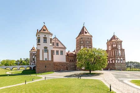 Castle Mir in Belarus at daytime. UNESCO World Heritage.