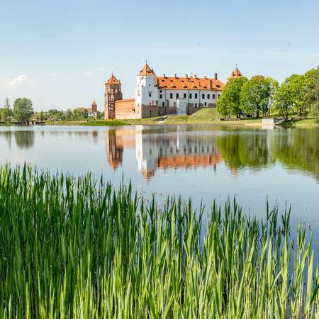 Castle Mir in Belarus at daytime.
