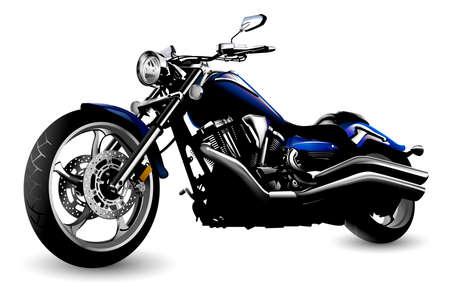 chopper: Motorcycle isolated on white background