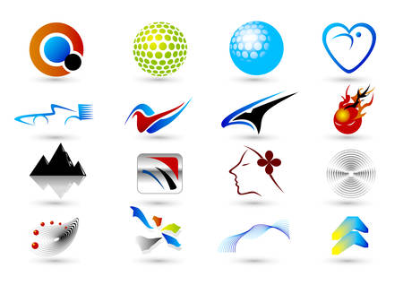 Set of abstract elements for design Vector