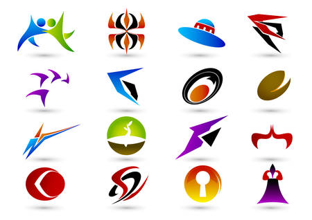 Set of abstract elements for design Stock Vector - 4916182