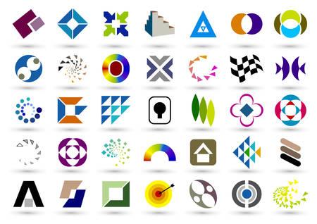 Set van abstracte elementen voor ontwerp