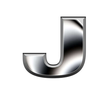Metal alphabet symbol-J Stock Photo