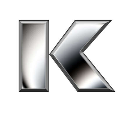 Metal alphabet symbol-K Stock Photo