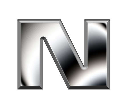 Metal alphabet symbol-N