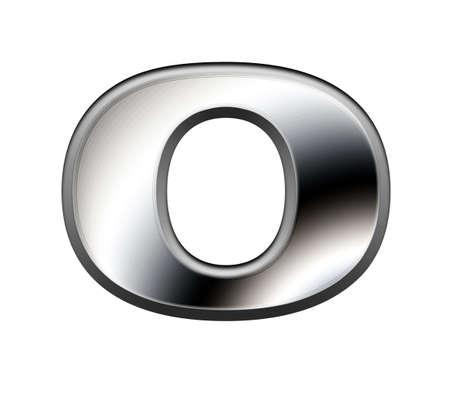 Metal alphabet symbol-O Stock Photo