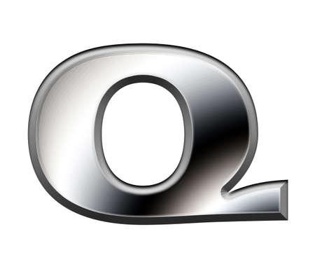 Metal alphabet symbol-Q Stock Photo