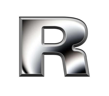 Metal alphabet symbol-R Stock Photo