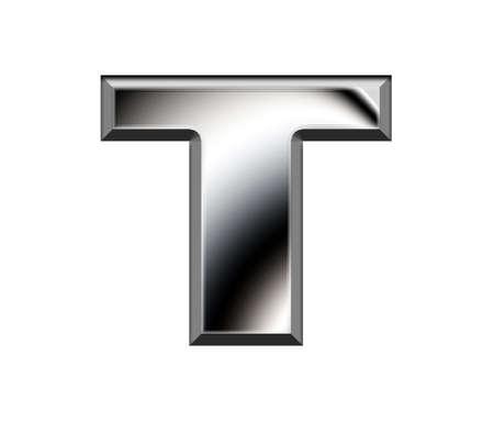 Metal alphabet symbol-T