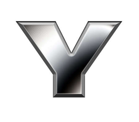 Metal alphabet symbol-Y Stock Photo