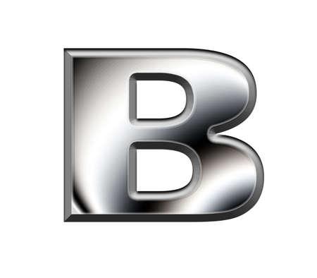 Metal alphabet symbol-B