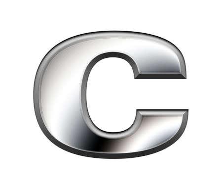 Metal alphabet symbol-C