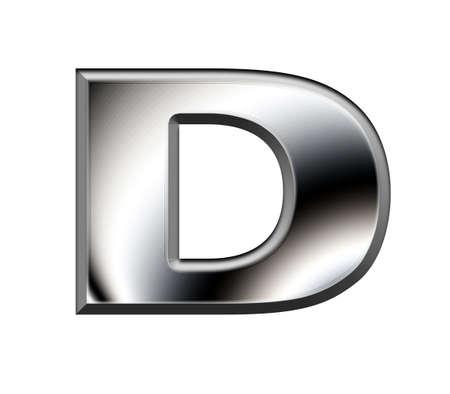 Metal alphabet symbol-D