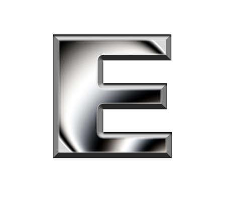 Metal alphabet symbol-E