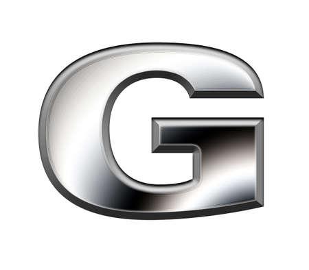 monotype: Metal alphabet symbol-G Stock Photo