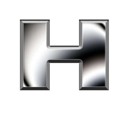 Metal alphabet symbol-H