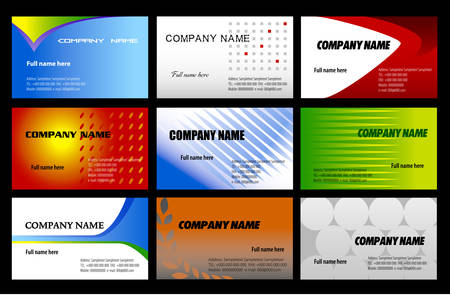 business cards templates Illustration
