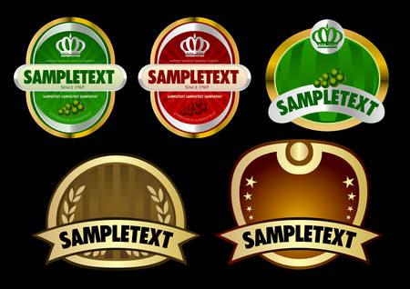 Set of design elements Stock Vector - 5024115
