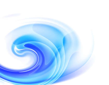 Abstract blue background on white