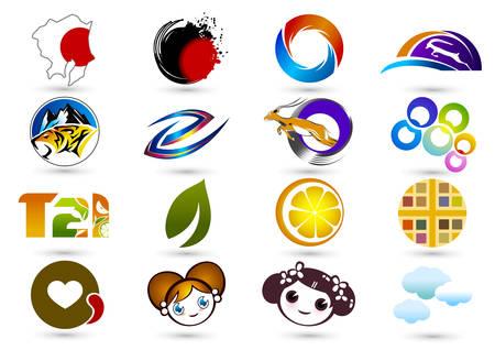 Business branding elements Illustration
