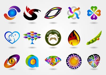 Logo set, logo collection, idea logo, creative logo design template, vector logo template