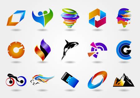 Logo set, logo collection, idea logo, creative logo design template, vector logo template Stock Vector - 71862820