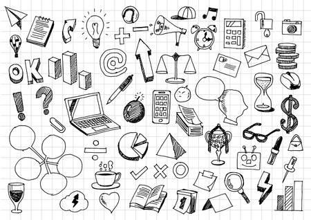 Business doodles Illustration