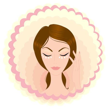 moisturiser: beauty face Illustration