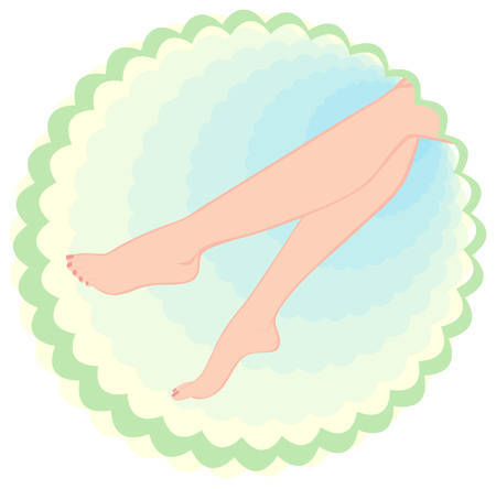 health resort: girls feet beauty