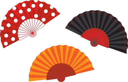 vector set spanish fan illustration