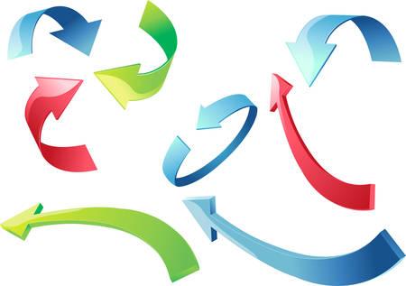 colorful 3d arrows vector illustration