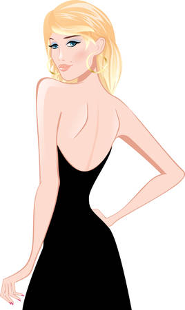 a charming: beauty blonde woman Illustration