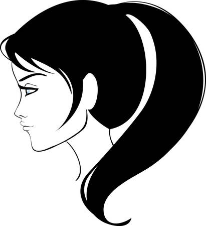 style: beauty girl face Illustration