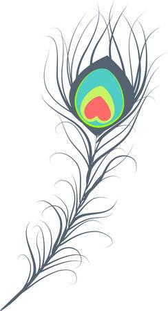 pluma de pavo real: Ilustraci�n de plumas de pavo real de arte