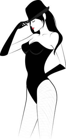 cabaret: femme dans le chapeau cabaret