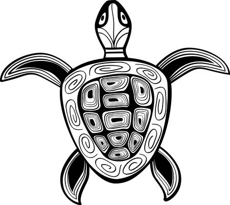 stylistic: Turtle a silhouette illustration