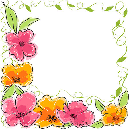 border line: Abstract floral background
