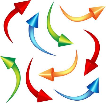 set cone arrows  Vector