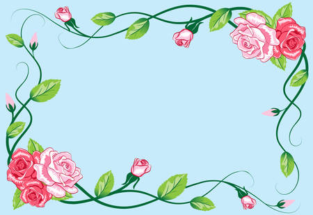 Greeting floral rose card Stock Vector - 7497833