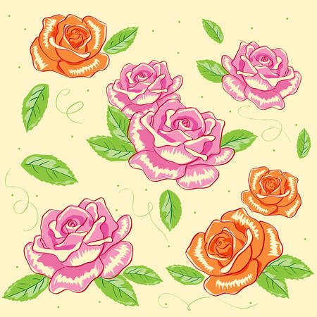 rose background Stock Vector - 7497803