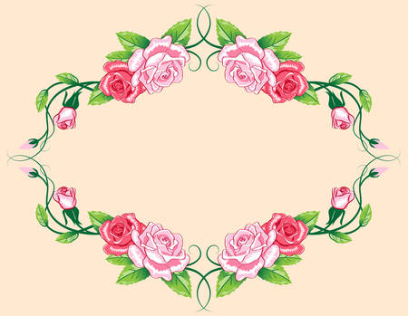 roses border Stock Vector - 7545177