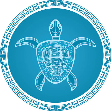 turtle: abstract turtle  symbol Illustration