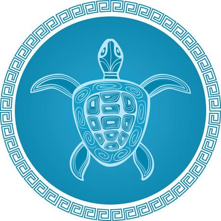 turtle: abstract turtle  symbol Illustration