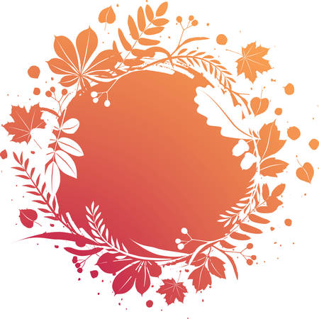 grunge autumn banner  Vector