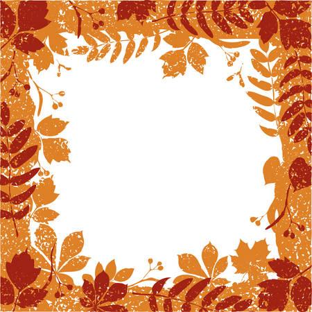 autumn leaves grange border Stock Vector - 7633525