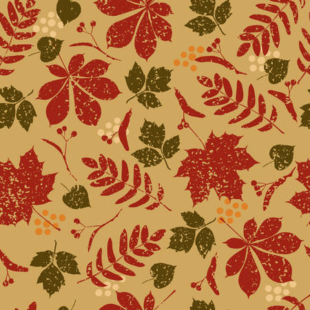 seamless grange autumn background Stock Vector - 7633529