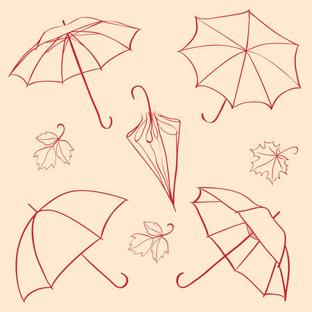 umbrella rain: set  umbrella