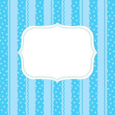 vintage retro frame: design element  for greeting card Illustration
